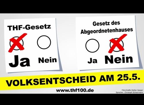 25.05.2014 Volksentscheid über den Erhalt des Tempelhofer Feldes - am Tag der Europawahl!